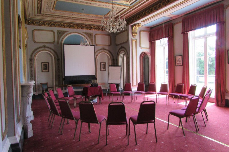 Drawing room set out for a group session