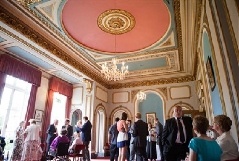 Event guests in drawing room